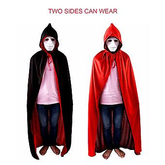Halloween Masquerade Party Double-sides Death Cosplay Vampire Witch Cloak