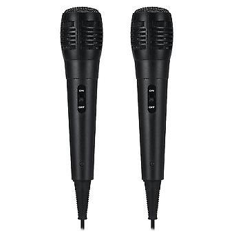 2Pcs PM-183 6.5MM Handheld Wired Dynamic Karaoke Microphone