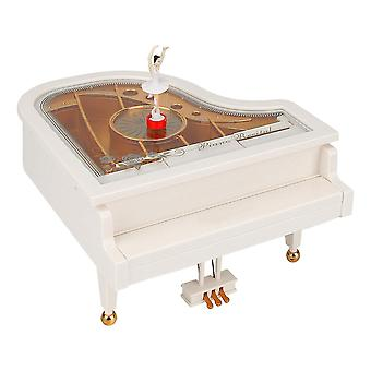 Piano Music Box With Ballet Dancer Gril Clockwork Music Box Classical Ornament Home Decoration