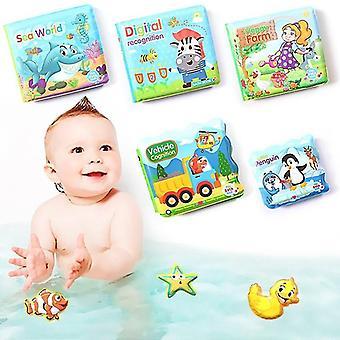 Baby Bath Books Baby Education Toy Intelligence Development EVA Floating Cognize Book(Vehicle