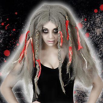Halloween peruukki harmaa 115731