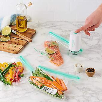 – Vakuum-Set für Lebensmittel – Connectée Stor'eat – enthält 1 Vakuumpumpe + 5