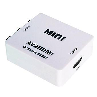 (Fehér) AV-HDMI 1080P RCA CVBS video audio kompozit átalakító adapter HDTV/DVD