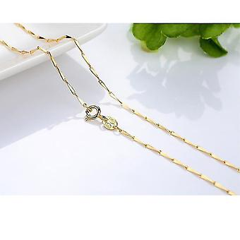 Gold Color Water Wave Snake Bone/starry/cross Chain(18inch  45CM)