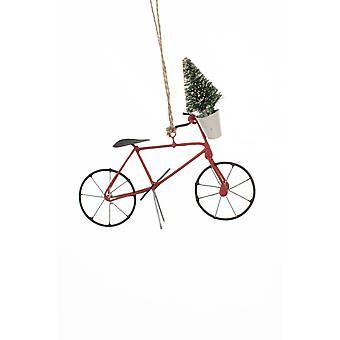 Shoeless Joe Bike with Tree Christmas Decoration
