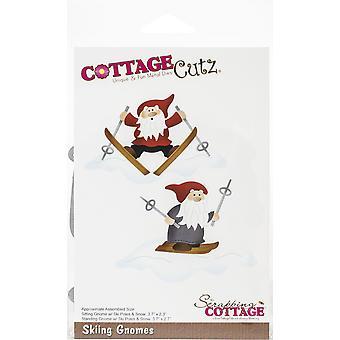 "CottageCutz Dies - Skiing Gnomes, 3.7"" To 2.3"""