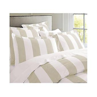 Oxford Stripe Quilt Cover Set Queen Size