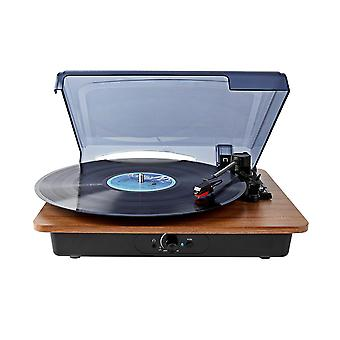 Belt-Driven Turntable with Built-in Speaker