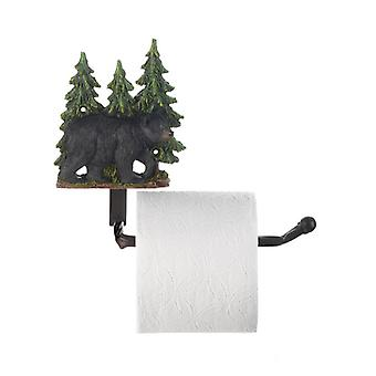 Accent Plus Black Bear with Trees Toilet Paper Holder, Pack of 1