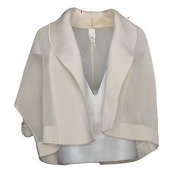 WynneLayers Women's Cropped Mesh & Neoprene Jacket Ivory 758672