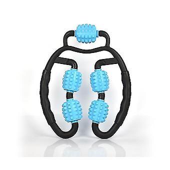 Zwart blauw spier roller triggerpoint massage roller tool voor onderarmsore spier been