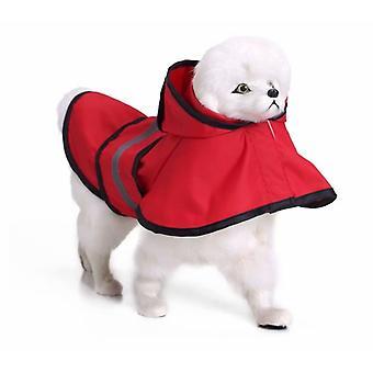 Pet Dog Raincoat Raincoat Large Dog Golden Retriever Large Dog Raincoat Pet Reflective Dog Clothes Raincoat Poncho (yy28 Yellow Xl)