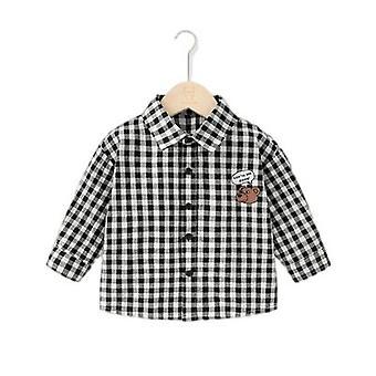 Baby Long Sleeve Shirt Outono Primavera Camisa de Outono Criança