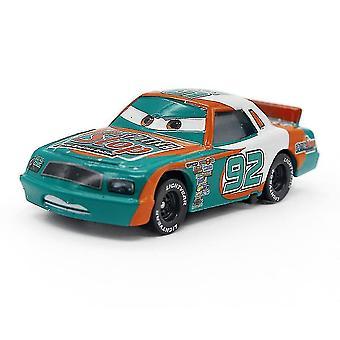 Autók Race Car Sputter Stop No. 92 Racer ötvözet modell Gyermek rajzfilm játékautó modell
