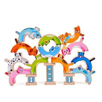 スタッキングブロックインターロック解凍幼稚園のおもちゃのバランスをとる高スイング教育リリース圧力ゲーム