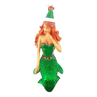 December Diamonds Ginger Snap in Green Mermaid Holiday Ornament 7.25 Inches