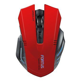 SPEEDLINK Fortus draadloze optische Gaming muis - rood/zwart (SL-680100-BK-01)