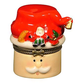 Santa Claus St. Nick Christmas Trinket Box phb