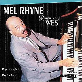 Melvin Rhyne - Remembering Wes [CD] USA import