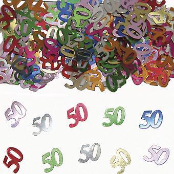 Tabela numer 50 konfetti ozdobny konfetti przyjęcie urodzinowe