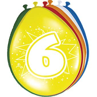 Colorful balloons balloon number 6 birthday 8 St. decoration balloons party