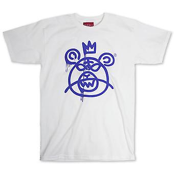 Mishka Bear Mop T-Shirt White Blue