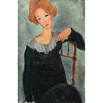 Amedeo Modigliani - Woman with Red Hair Poster Print Giclee