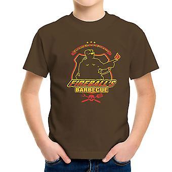 Fireballs BBQ Running Man Kid's T-Shirt