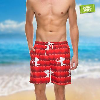 Heart lover beachshorts of Matchmaker shorts men's match to suit