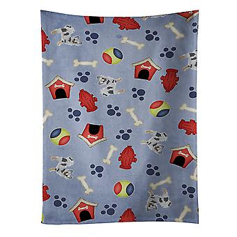 Dog House Collection Longhair Merle Chihuahua Kitchen Towel