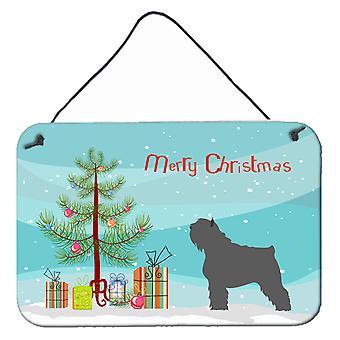 Bouvier des Flandres Christmas Wall or Door Hanging Prints