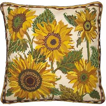 Cream Sunflower Dance Needlepoint Kit