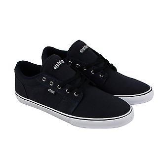 Etnies Division Mens Blue Canvas Low Top Lace Up Skate Sneakers Shoes