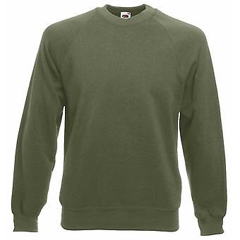 Fruit of the Loom Mens Raglan Plain Pullover Work Wear Sweatshirt Jumper