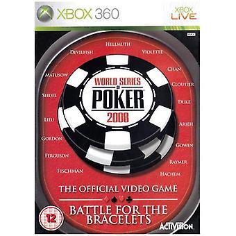 World Series of Poker 2008 Battle for the Bracelets (Xbox 360) - Factory Sealed