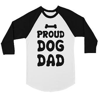 誇りに思って犬お父さんメンズ野球シャツ