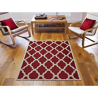 Moda Flatweave Trellis Red  Rectangle Rugs Plain/Nearly Plain Rugs