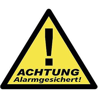 PENTATECH 40201 Warning label Warning Alarm Secured Languages German 3-piece set (W x H) 85 mm x 70 mm