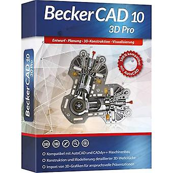 Markt & Technik Becker CAD 10 3D PRO Fullversjon, 1 lisens Windows CAD