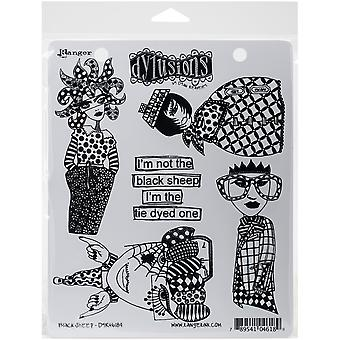 """Dyan Reaveley's Dylusions Cling Stamp Collections 8.5""""X7"""" - Black Sheep"""