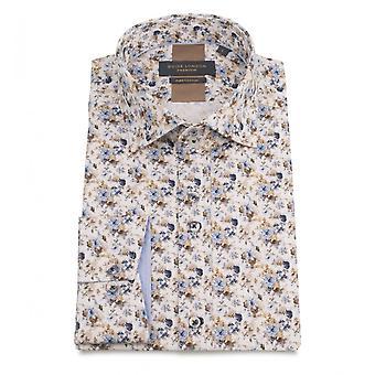 Guia Londres céu Sateen Mens a camisa de algodão com uma impressão de motivo Floral Multi