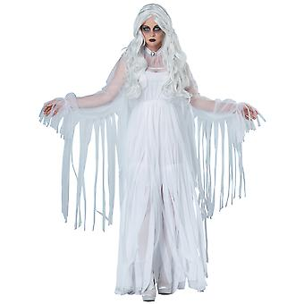 Ghostly Spirit Ghost Soul Haunt Phantom Halloween Dress Up Womens Costume
