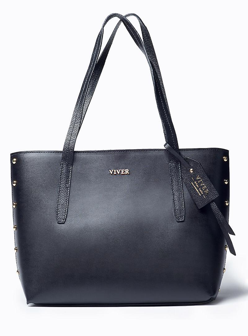 Viver Leather Tote Bag Tote-Oso Black