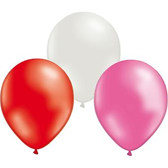 Balloons mix 24-pack Red, White and Pink 30 cm (12 inch)
