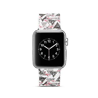 Klockrem silicone pour Apple Watch 4 40 mm, 3/2/1 38 mm-Flamingo