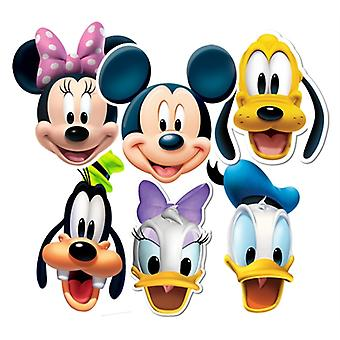 Mickey Mouse and Friends Card Fancy Dress Masks Set of 6 (Mickey, Minnie, Donald, Goofy, Pluto and Daisy)