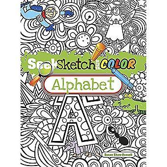 Söka, skissa och färg alfabetet
