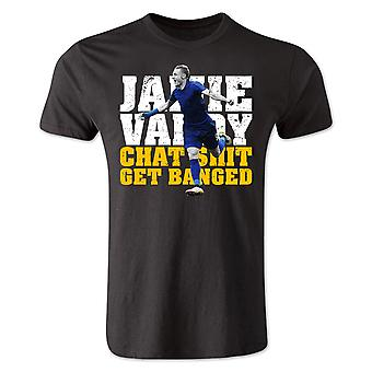 Jamie Vardy Leicester City Player T-Shirt (Black)