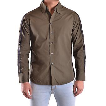 Daniele Alessandrini Ezbc107112 Men's Green Cotton Shirt
