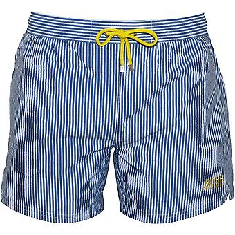 Capo a strisce Seersucker Swim Shorts, blu